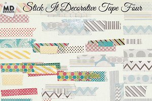 Digital Washi Tape Layered Patterns