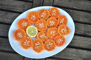 half mandarins