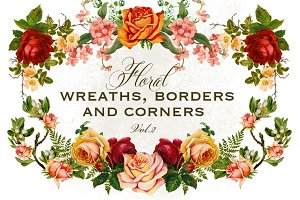 Floral Wreaths Borders & Corners 2