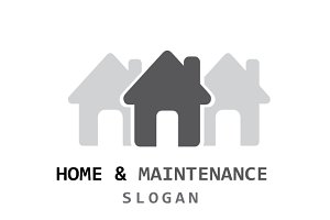 Home & Maintenance Logo Template