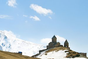 Famous Georgian Mountains church