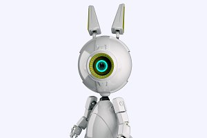 White robot rabbit