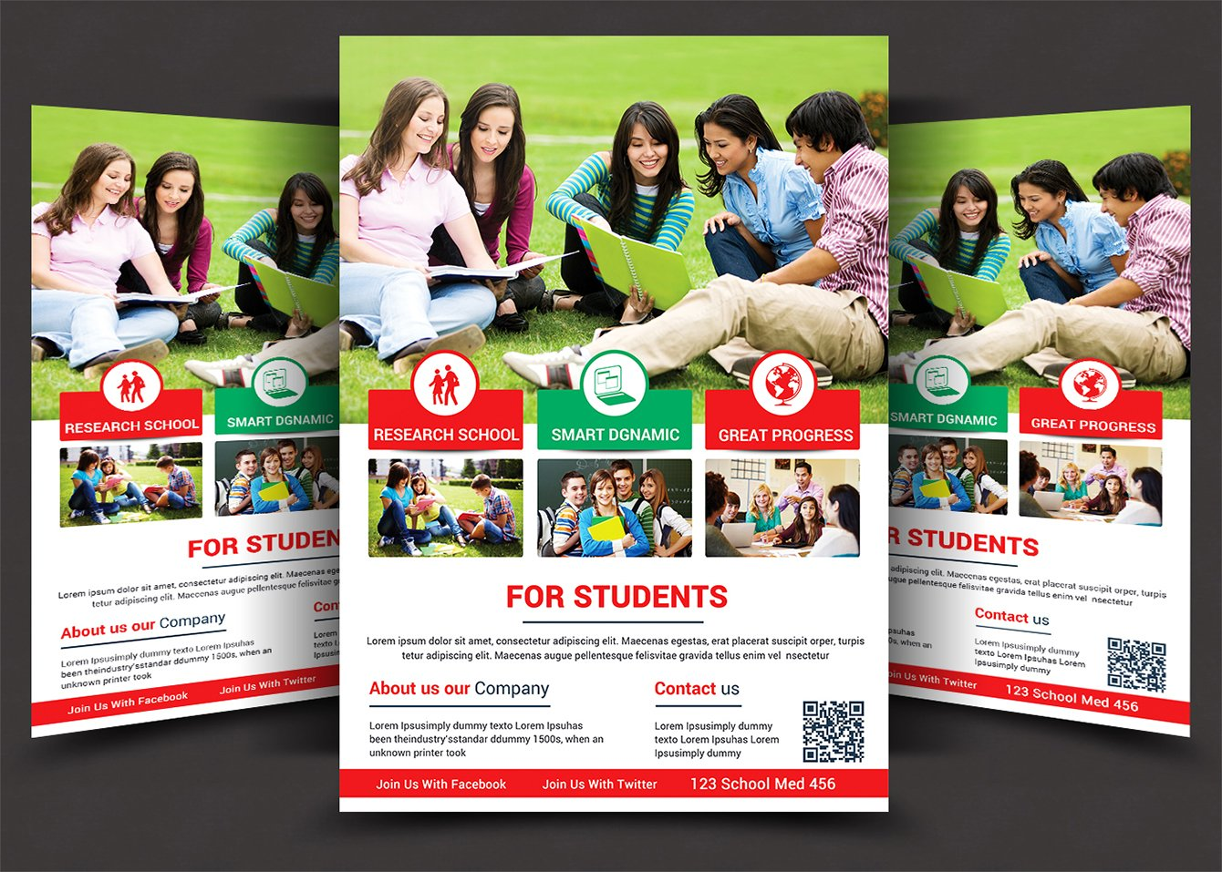 High School Flyer Templates Flyer Templates Creative Market - School brochure templates