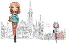 fashion girls in Bruges