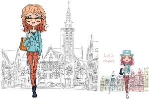 fashion girls in Bruges