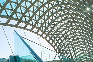 Peace bridge interior. Tbilisi