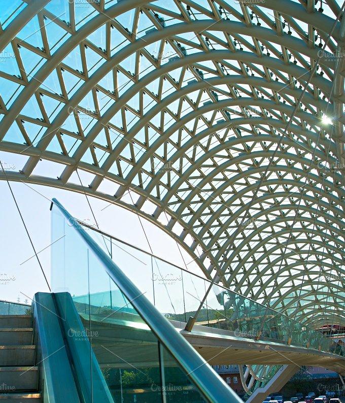 Peace bridge interior. Tbilisi - Architecture