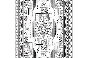 Tribal Geometrical Motif