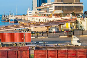 Famous Odessa sea port, Ukraine