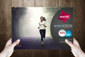 Fitness Post Card Template