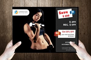 Gym Post Card Template