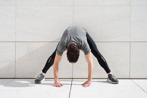 athlete stretches lumbar