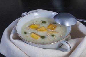 Chicken soup and potato