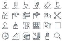 36 office tools icon set