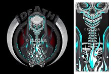 Death Skeleton Grim Reaper Vector