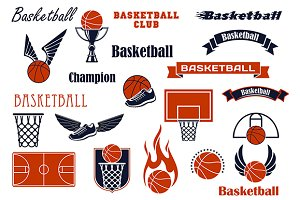 Basketball sport game elements