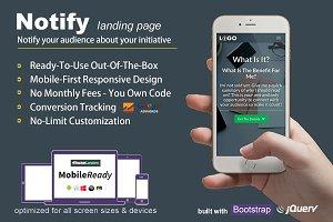 Notify - Landing Page