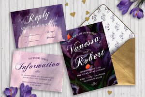Wedding Invitation Template Crocus