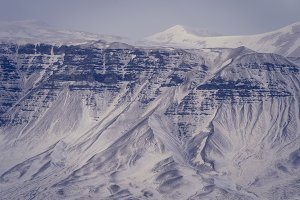 Winter Landscape Textures in Iceland