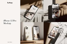 iPhone 12 Pro Mockup by  in Mockups
