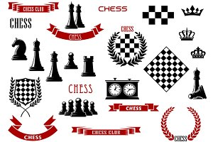 Chess game items and icons