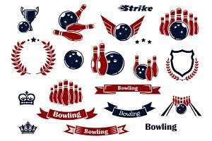 Bowling sport game items