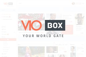 VIObox - Video Site PSD template
