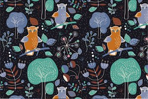 "Seamless pattern ""Night"""