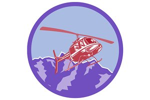 Helicopter Alps Mountains Circle