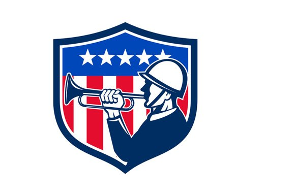 American Soldier Bugler Reveille