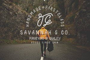 Savannah & Co ~ Hand Drawn Font