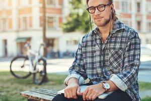 Thoughtful entrepreneur, portrait of white man