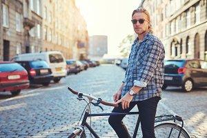 City lifestyle, portrait of man.