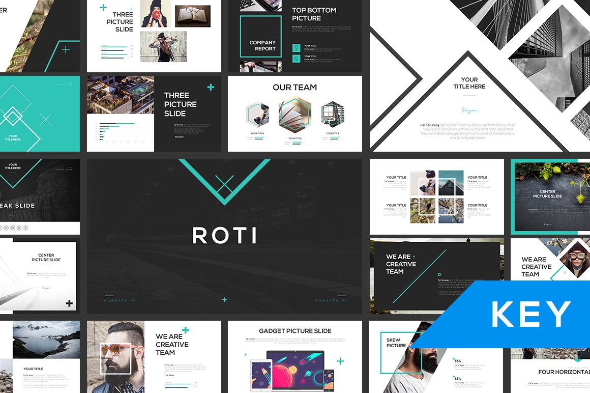 roti keynote template presentation templates creative market