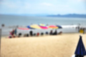 Blurred day on the Beach