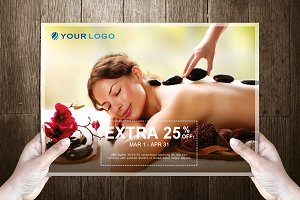 RoyalSpa Post Card Template