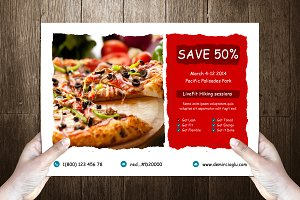 Dominos Post Card Template