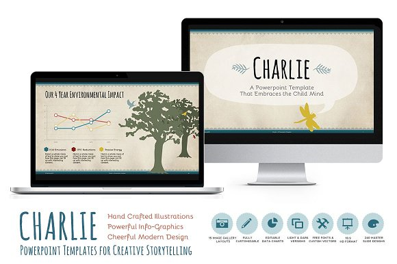 charlie powerpoint template presentation templates creative market