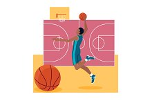 Basketball Sport Team Concept