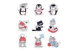 Set Animals in Warm Clothes