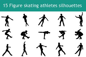 15 Mans figure skating silhouettes