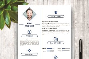 Simple Resume Template With Photo