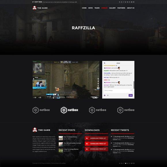The Game - eSport PSD Gaming Templat ~ Website Templates ~ Creative ...