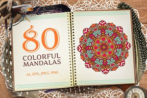 80 Vector Mandalas Vintage Ornament