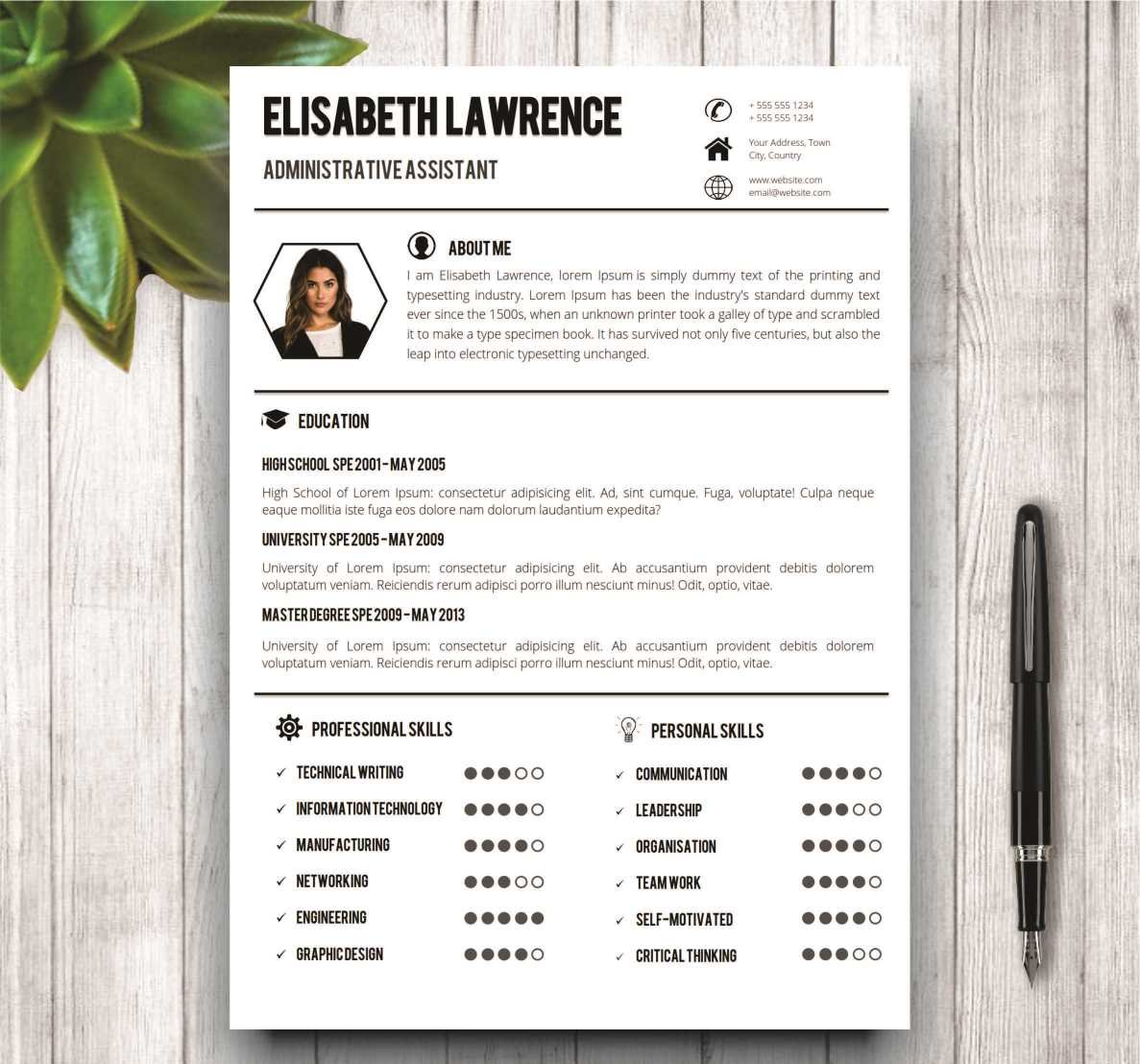 clean professional resume template resume templates creative market - It Professional Resume Format