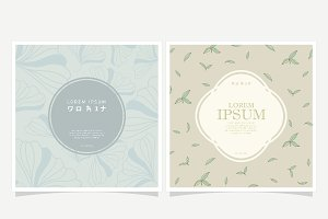Floral background and Label Design