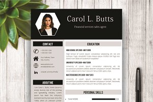 Clean Resume Template With Photo