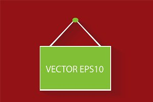 Hanging poster vector