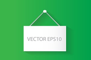 hanging poster vector green