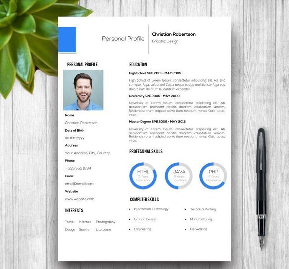 8 page exclusive resume template resume templates creative market